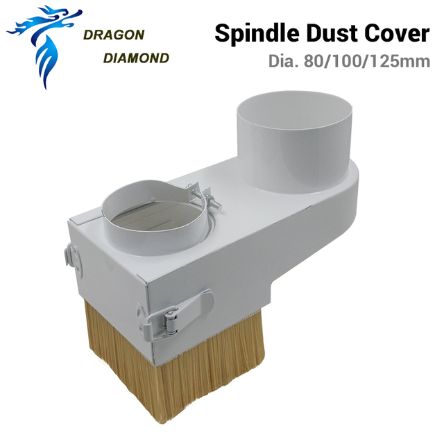 Dust Collector Cover Brush Diameter 80/100/125mm For CNC Spindle Motor Milling Machine Router Woodworking Tools