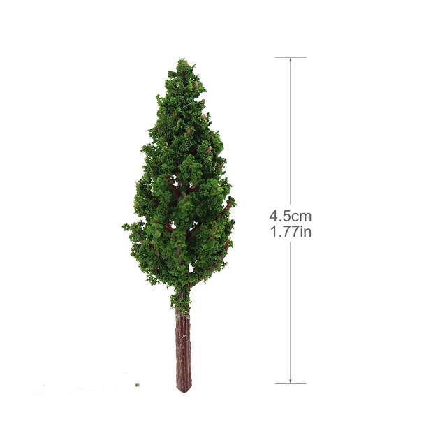 50pcs Model Pine Trees Green For 1:150 N Z Scale Railway Layout 45mm S4815