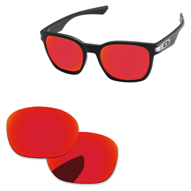 PapavivaFire Red Mirror Polarized Replacement Lenses For Garage Rock OO9175 Sunglasses Frame 100% UVA & UVB Protection
