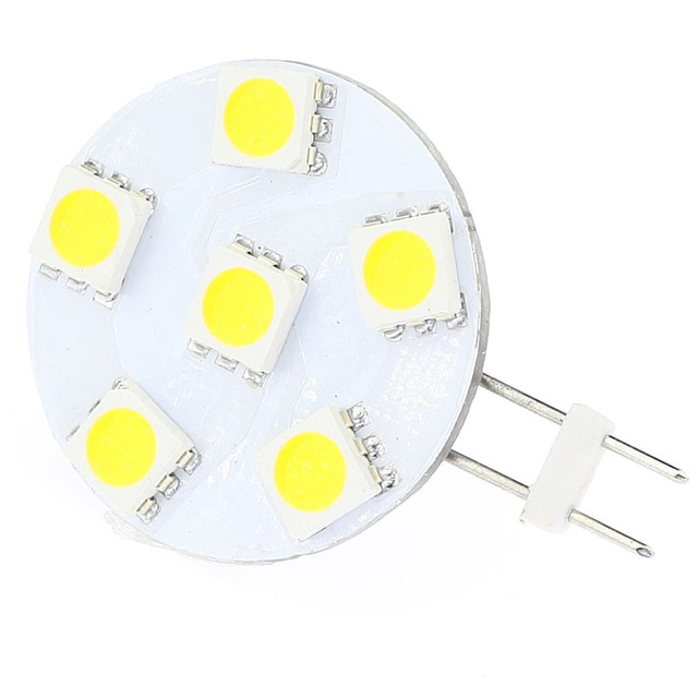 Red Color LED G4 Lamp 6LEDS 5050SMD Round Bulb Dimmable Wide voltage AC/DC10-30V 5pcs/lot