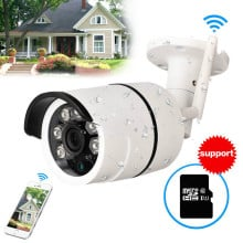 CCTV Outdoor Waterproof Bullet IP Camera Wifi Wireless Surveillance Camera Built-in 16gb Memory Card  CCTV Camera Night Vision
