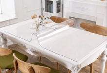 glass soft cloth Transparency Waterproof PVC tablecloth Table Cover Kitchen Pattern Oil cloth Tablecloth 1.0mm Mat