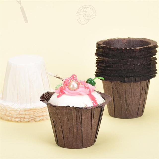 60pcs Straw Hat Shaped Cupcake Liners Decorative Oilproof Muffin Paper Cupcake Holder Wrappers B King Cup Cake Supplies A35