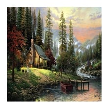 HOT-Wall Landscape Oil Painting By Numbers Oil paintings Home Decoration Pictures Canvas Oil Painting Coloring By Number
