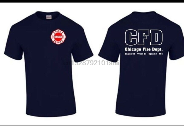 Chicago Fire Show TV Show Chicago Fire-Department T-shirt Duty Shirt Rescue