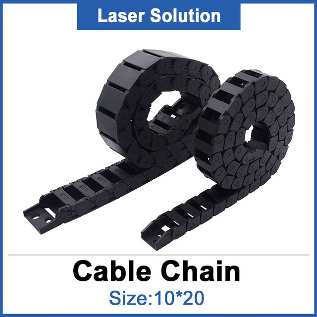 10*20mm Tank Chain / Plastic Transmissin Cable Drag Chain Laser Engraver for Laser Engraving & Cutting Machine