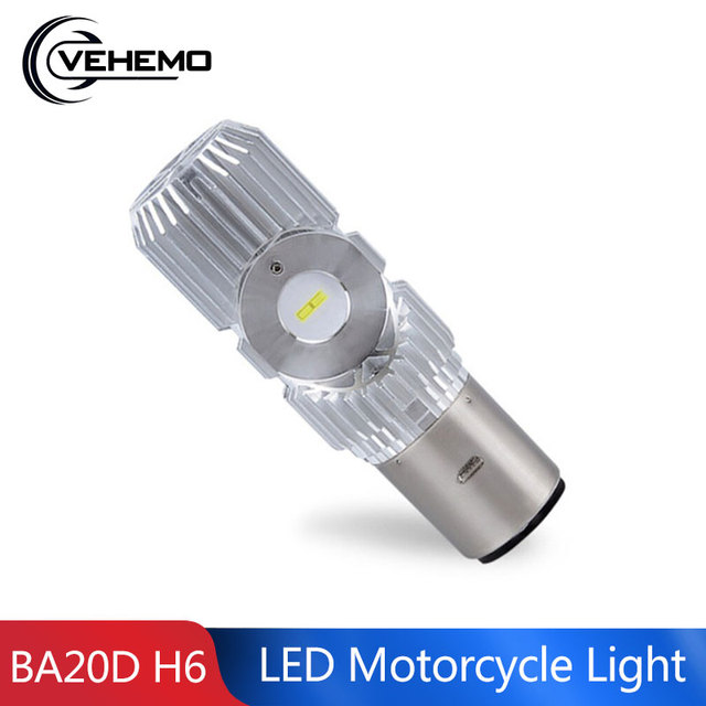 BA20D LED Scooter Front Lamp Universal Motorbike Headlight High Power Motorcycle Parts LED Light Hi Lo Lamp