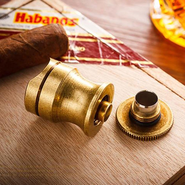 Vintage Travel Cigar Holder Showing Stand Ashtray Fits Cohiba Cigars With Cigar Punch Gift Box