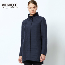 MIEGOFCE 2019 The New Spring Collection Warm women's Jacket With A Standing Collar Simple Woman's Quilted Coat mom stylish model