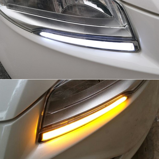 Car Flashing FOR FORD Kuga Escape 2013 2014 2015 2016 DRL Driving Daytime Running Light DRL styling fog lamp Relay Daylight