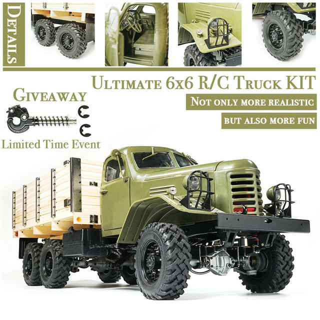 Kingkong RC CAR 1/12 Scale CA30/ZISL-151 6x6 Soviet Truck with Metal Chassis KIT Set