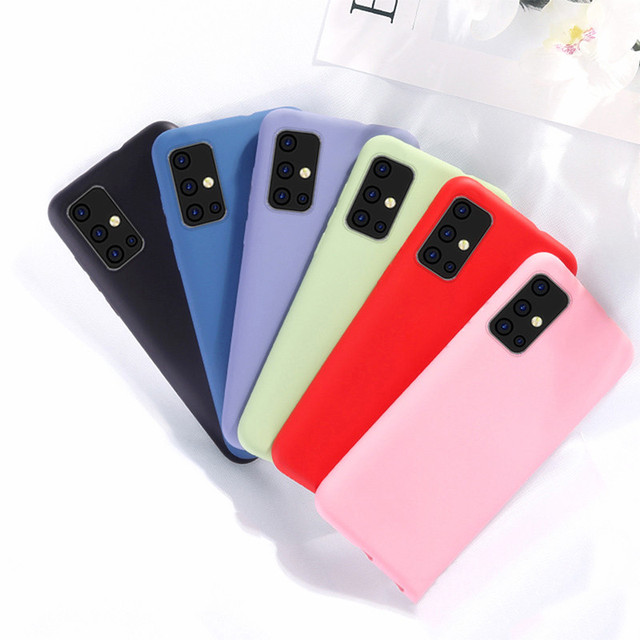 Candy TPU Case For Samsung Galaxy S20 Case Galaxy S20 Soft Solid Color Liquid Phone Case For Samsung S20 Ultra/S20 Plus Cover