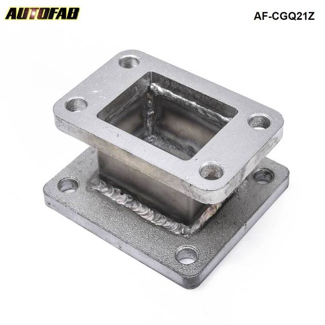 Cast Iron T3 to T4 Turbo Charger Turbo Manifold Flange Adapter Conversion AF-CGQ21Z