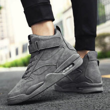 Men Outdoor Walking Sneakers Shoes Men Breathable Boots Hip Hop Shoes High Top Male Casual Shoes Black Gray Green hju8