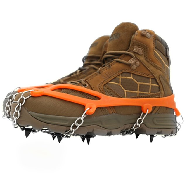 Crampons Winter Hiking Outdoor Snow Shoe Cover Cleats Manganese Steel Spikes Climbing Non Slip Ice Gripper