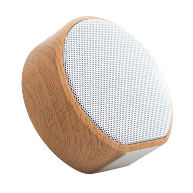 Wood Grain Wireless Bluetooth Speaker Portable Mini Subwoofer Audio Stereo Loudspeakers Sound System Support TF AUX USB laptop