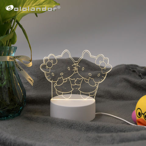3D LED Creative Night Lamp Lights Novelty Illusion Decorative Table Lamp For Hom