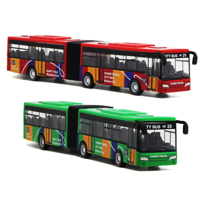 Children's Diecast Model Vehicle Shuttle Bus Car Toys Small Baby Pull Back Toys 18.5CM Multicolor Indoor Collection Bus Toy Hot