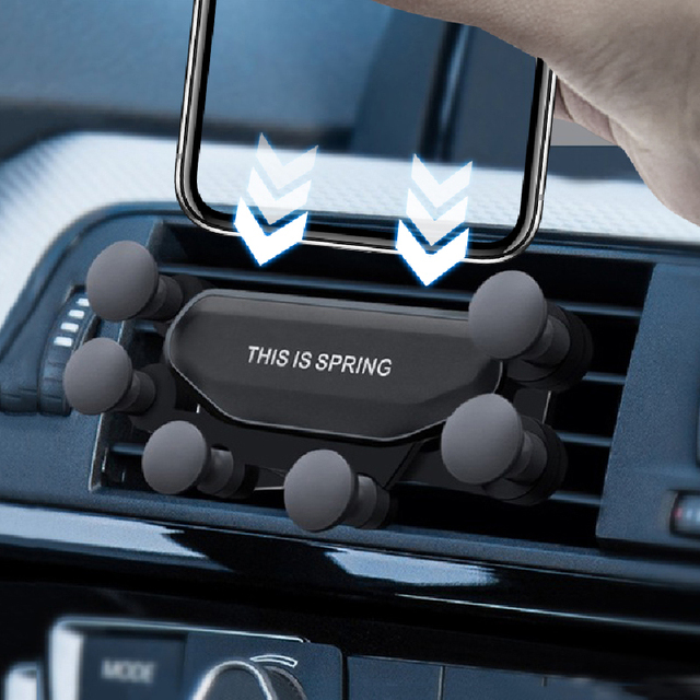 Gravity Car Holder for Phone In Car Air Vent Mount Holder for IPhone 11 XS MAX Xiaomi Huawei Mobile Phone Holder GPS Stand