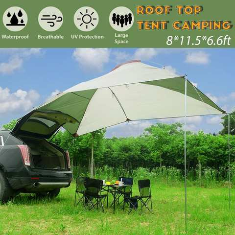 3x3m Waterproof Awning Roof Tent Portable Sun Shelter Outdoor Camping Canopy