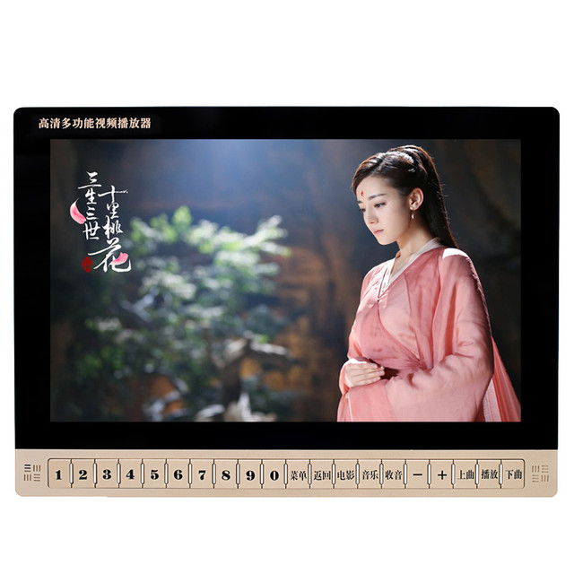 19 inch HD LCD Screen Digital Multimedia Portable DVD EVD VCD MP3 Player with Holder, Video machine/USB, TF card, Speakers MP4