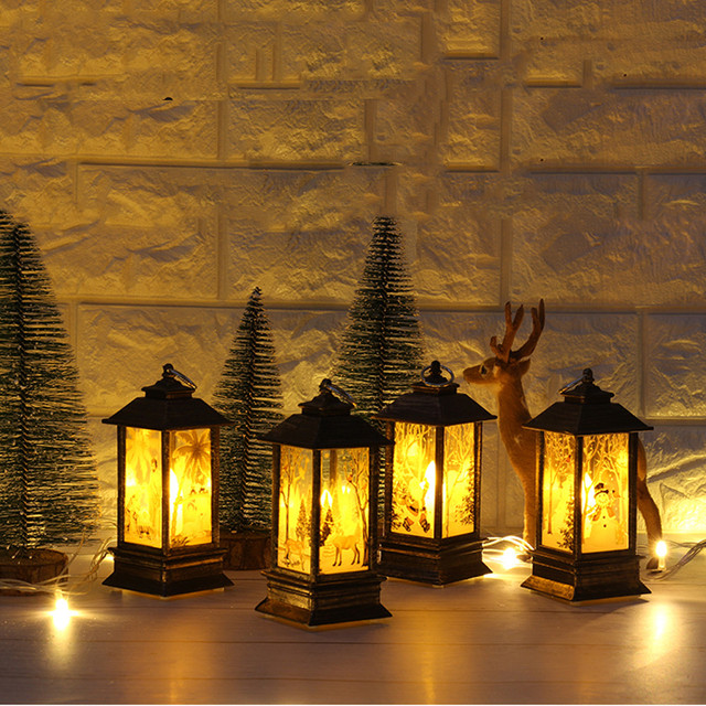 christmas light outdoor 1PC Christmas Candle with LED Tea light Candles for Christmas Decoration part Luces De Navidad T3