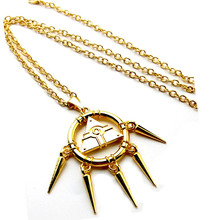 Yu-Gi-Oh! Millennium Puzzle Gold Wheel Wisdom Pendant Necklace Keychaiin Gift Millennium Items Anime Cosplay Accessories Props