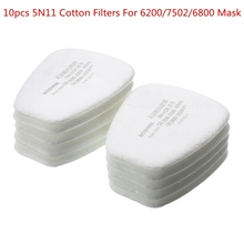 10pcs 5N11 Cotton Filters N95 Replacement For 6200/7502/6800 Gas Dust Mask Accessories Chemical Respirator Painting Spraying