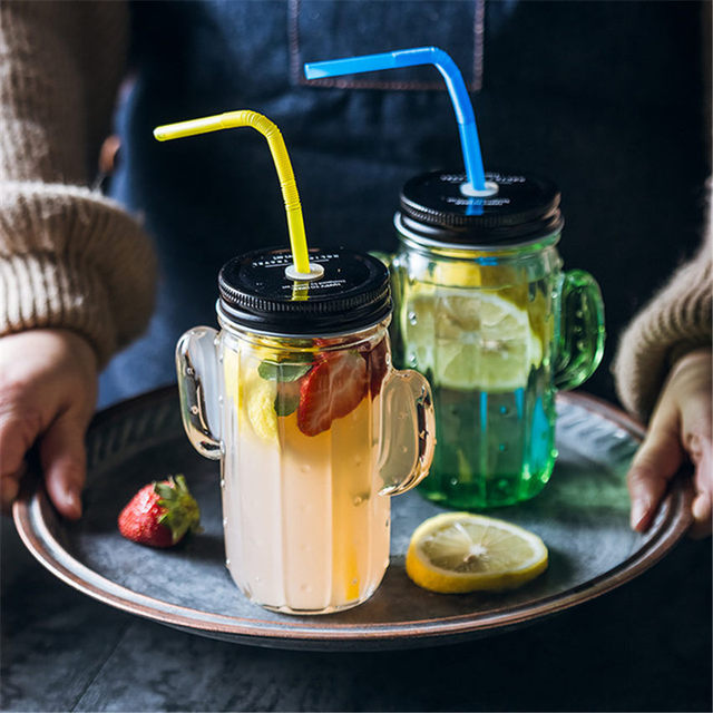 Cactus Glass Cup Monolayer Juice Cup Milk Breakfast Cup Bring Cover Fruit Juice Water Cool Drink Cup With Straw party Gift