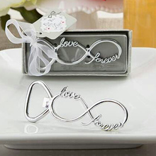 """Free Shipping 100pcs/lot Party Favors """"Forever Love"""" Chrome Beer Bottle Openers Wedding Favors"""
