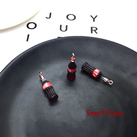 10pcs Women Earring Charms Beer Bottle Resin Keychain Necklace Pendant Jewelry