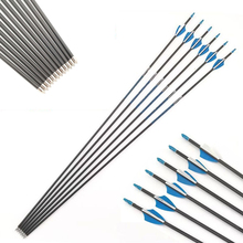 30in.Pure Carbon Arrows Spine700 Archery Hunting Training Sport Vanes Outdoor