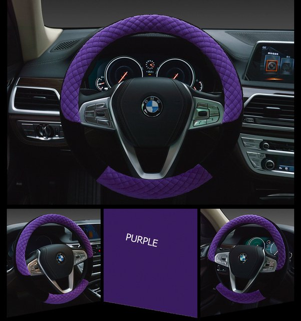 38CM Steering Wheel Covers Universal Soft Warm short Plush Car Steering Wheel Cover Car-styling car accessories covers for cars