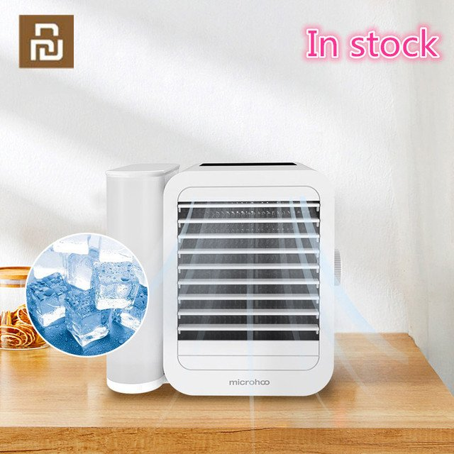 YOUPIN Microhoo 3 In 1 Mini Air Conditioner Water Cooling Fan Personal Portable USB Air Cooler Touch Screen Timing Humidifier