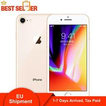 3 Days Arrived, Apple iPhone 8 4G LTE Mobile Phone 12MP Camera 326ppi Touch Sreen 4.7inch Hexa-core iOS iPhone8 Smartphones