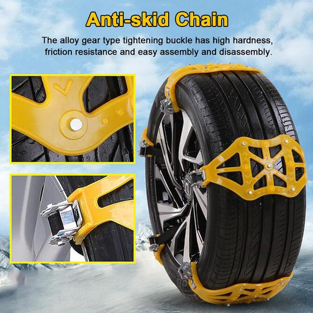Winter Car Tyre Roadway Safety Tire Chain Wear-resistant Snow Anti-skid Double Snap Skid Wheel TPU Chains For Car SUV Off-road