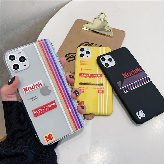 Simple Brand Label Phone Case For iphone 11 Pro Max 6 6s 7 8 plus back Cover For iphone X XR XS Max Cartoon Silicone Soft Cases