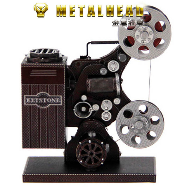 Love Spell All-Metal Stainless Steel DIY Assembled Model 3D Glue-free Jigsaw Puzzle Color Projector Red Crown