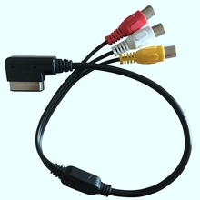 1Pcs AMI AUX Cable Adapter 3RCA DVD Video Audio Input Wire for A3 A4 A6 A7 A8 Q5 Q7 R8 AMI MMI