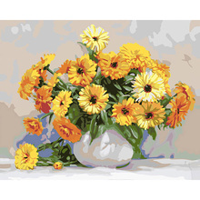 GATYZTORY 40x50cm Frame DIY Painting By Numbers Kits Sunflowers Abstract Modern Home Wall Art Picture Flowers Paint By Numbers
