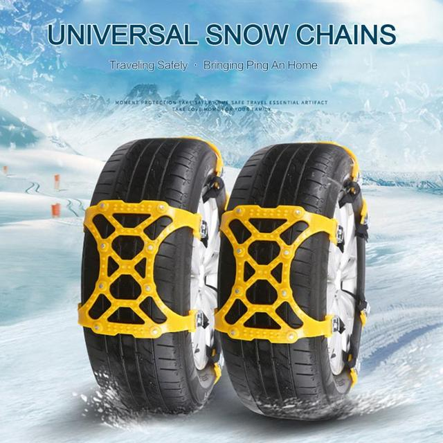 1PC Universal Car Tyre Winter Roadway Safety Tire Snow Adjustable Anti-skid Safety Double Snap Skid Wheel Chains Car Snow Chains