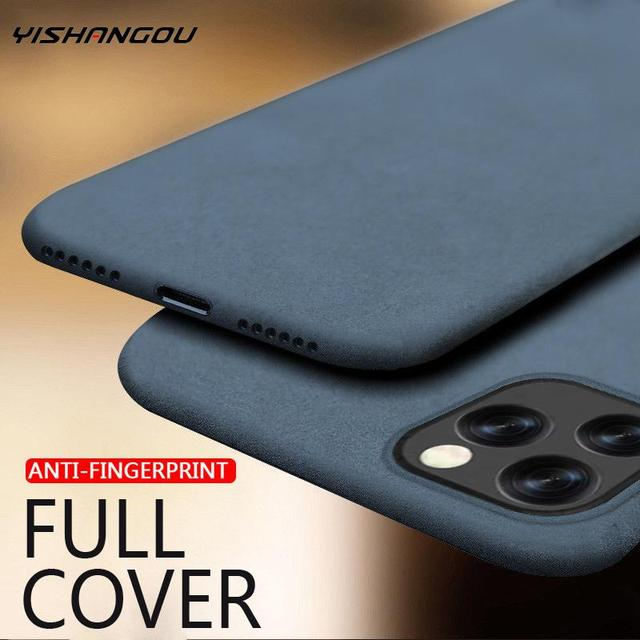 YISHANGOU Sandstone Matte Slim Soft Silicone Case For iPhone 11 12 Pro Max XR XS 8 7 6s Plus Scrub Back For iPhone 12 SE 2 2020