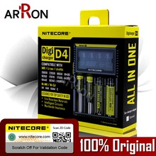 100% Original Nitecore D4 Battery Charger LCD Intelligent Charger Li-ion 18650 10440 16340 26650 AAA AA 12V Battery Charger