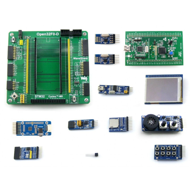 Open32F0-D Package B # ARM STM32 Cortex-M0 Development Board STM32F051R8T6  With STM32F0DISCOVERY + 320x240 Touch LCD+9 Modules