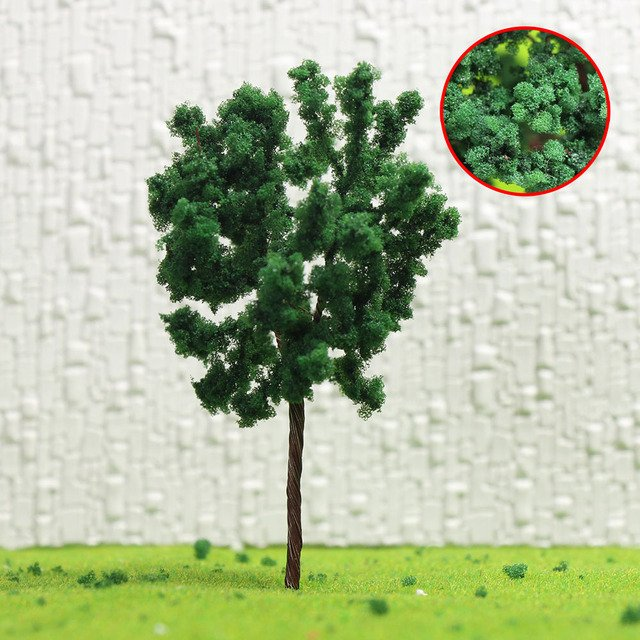 D6030 30pcs/60pcs/120pcs N HO Scale 6cm Model Trees Iron Wire Trees Train Layout Set