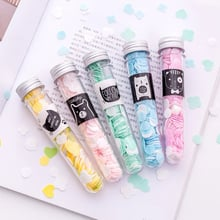 Mini Disposable Washing Hand Soap Body Washing Bath Test Tube Confetti Foaming Flower Paper Soap Makeup Removal For Nails TSLM2