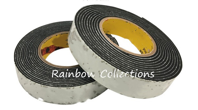 2pcs/lot 3MM 4 Meters Thick Single Side Adhesive EVA Traceless Tape Wide 20&25mm  Sponge Tape