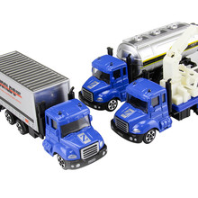 1 PC Mini Toy Vehicle Model Alloy Diecast Engineering Construction Fire Truck Ambulance Transport Car Educational Children Gifts