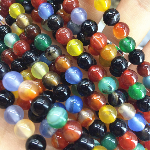 Round/faceted round multicolor natural stone carnelian agat onyx 4mm 6mm 8mm 10mm 12mm loose beads diy beads jewels 15inch A12
