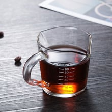 Heat-resistant glass measuring cup jigger for espresso coffee Double-mouthed ounce cup 70ml Small milk cup XY021+
